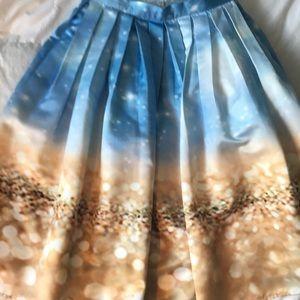 Chicwish British company ocean printed full skirt